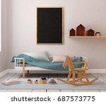 mock up of graphite board in... | Shutterstock . vector #687573775