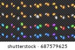set of christmas festive... | Shutterstock .eps vector #687579625