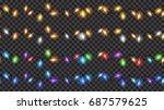 set of christmas festive... | Shutterstock .eps vector #687579625