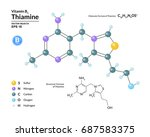 structural chemical molecular... | Shutterstock .eps vector #687583375