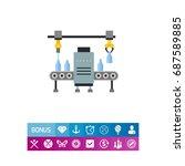 milk factory vector icon   Shutterstock .eps vector #687589885