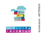 books pile icon | Shutterstock .eps vector #687590635
