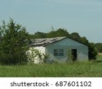 Abandoned Wooden House In A...