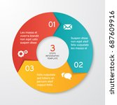 circle arrows for infographics. ... | Shutterstock .eps vector #687609916