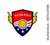 water polo logo  american logo.   Shutterstock .eps vector #687610588