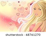 Beautiful Blond On Pink...