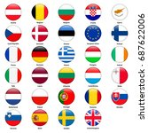 all flags of the countries of...   Shutterstock . vector #687622006
