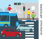 road safety campaign...   Shutterstock .eps vector #687633406
