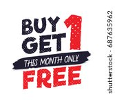 buy get 1 free tag design for... | Shutterstock .eps vector #687635962