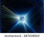 abstract background element.... | Shutterstock . vector #687638065