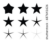 star   vector icon star icon... | Shutterstock .eps vector #687641626