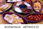 turkish breakfast | Shutterstock . vector #687642115