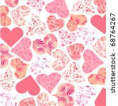 valentine background vector | Shutterstock .eps vector #68764267