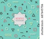 memphis pattern background.    Shutterstock .eps vector #687645706