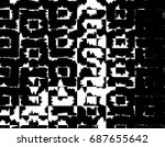 grunge background of black and... | Shutterstock . vector #687655642