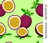 vector seamless pattern with... | Shutterstock .eps vector #687655912