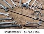 conceptual image of hardware... | Shutterstock . vector #687656458