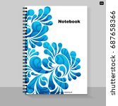 template cover a4 notebook with ... | Shutterstock .eps vector #687658366