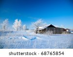 beautiful winter landscape with ... | Shutterstock . vector #68765854