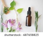 natural skincare bottle... | Shutterstock . vector #687658825