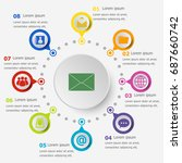 infographic template with mail... | Shutterstock .eps vector #687660742