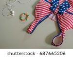 summer fashion woman   Shutterstock . vector #687665206