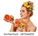 hair and facial mask from fresh ... | Shutterstock . vector #687666832