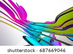 abstract architectural interior ... | Shutterstock . vector #687669046