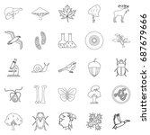 fauna icons set. outline set of ... | Shutterstock .eps vector #687679666