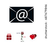 email message flat icon  vector ...   Shutterstock .eps vector #687679846