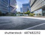 empty floor with modern... | Shutterstock . vector #687682252