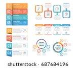 four steps infographic... | Shutterstock .eps vector #687684196