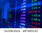 stock market graph and ticker... | Shutterstock . vector #687685132