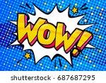 wow word bubble. message in pop ... | Shutterstock .eps vector #687687295