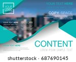 presentation layout design... | Shutterstock .eps vector #687690145