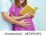 close up of beautiful pregnant...   Shutterstock . vector #687691492