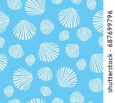 shell pattern  vector ... | Shutterstock .eps vector #687699796