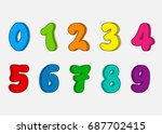 set colorful numbers  vector... | Shutterstock .eps vector #687702415