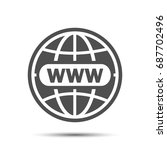 website icon world globe  www... | Shutterstock .eps vector #687702496