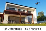 drone near the private house  ... | Shutterstock . vector #687704965
