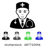physician flat vector icon.... | Shutterstock .eps vector #687710446
