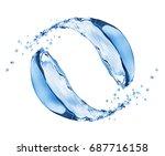 water splashes in motion... | Shutterstock . vector #687716158
