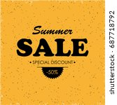 summer sale banner | Shutterstock . vector #687718792
