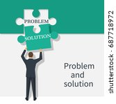problem and solution concept.... | Shutterstock .eps vector #687718972