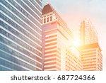 modern business building.   Shutterstock . vector #687724366