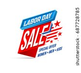 labor day sale banner.happy usa ... | Shutterstock .eps vector #687728785