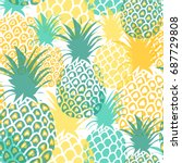 Pineapples Seamless Pattern....