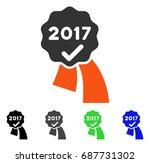 2017 approve seal flat vector... | Shutterstock .eps vector #687731302