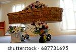 funeral casket  coffin burial ...   Shutterstock . vector #687731695