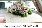 funeral casket  coffin burial ...   Shutterstock . vector #687731758